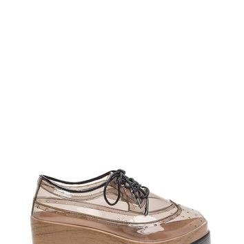 Clear View Platform Oxford Wedges GoJane.com