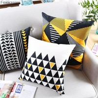 Nordic Style Geometric Cushion Home Decor Black And White Throw Pillows Modern Cushion Home Decorative Throw Pillows 45x45cm