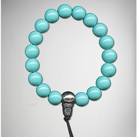 Turquoise-Effect Luck Power Bead Bracelet - Spencer's