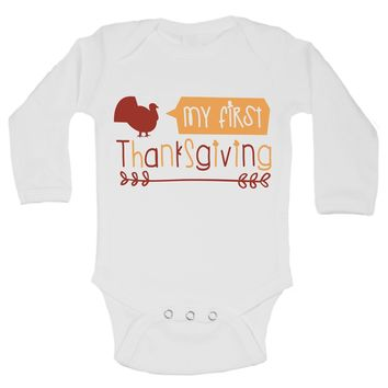 My First Thanks Giving Funny Kids Onesuit