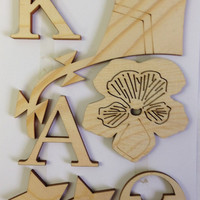 Kappa Alpha Theta Wood Cut Out Craft Pieces (Numerous Pieces In One Order)