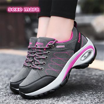 Women's Air Cushioned Non-slip Thick Soled Tennis Shoes