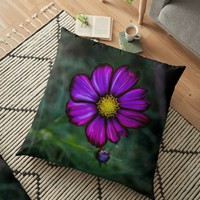 'Floral autumn' Floor Pillow by VanGalt