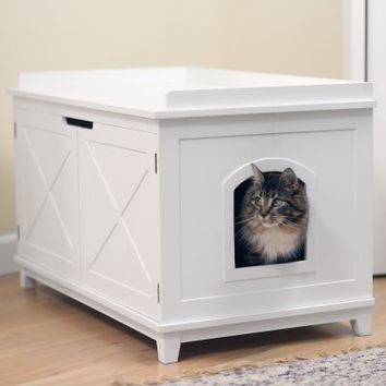 Boomer & George Hampton Cat Washroom Box | Hayneedle