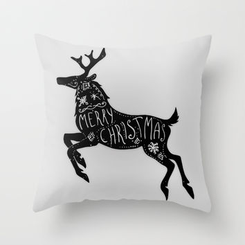 Merry Christmas Throw Pillow by Marvin Fly