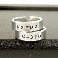 C3PO and R2D2 Ring Set  Star Wars  Best Friends by fromtheinternet