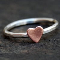 Size 6 - Sterling Silver Stacking Ring  - Rustic Romance - Ready to Ship
