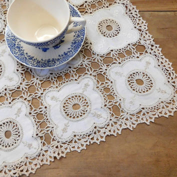 Square Crocheted Centerpiece Table Cover