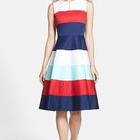 kate spade new york 'corley' stretch cotton fit & flare dress