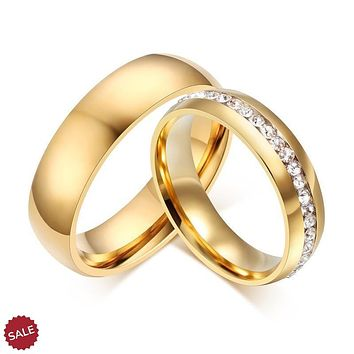 6mm Gold Engagement Wedding Band Ring for Women Men