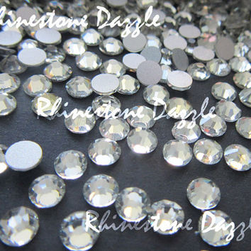 Quality ss16 Non Hotfix Clear Crystal Flatback Rhinestones, 4mm Non Hotfix Clear Crystal Flatback Rhinestones,100-1000 Non Hotfix Rhinestone