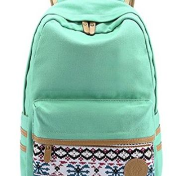 Santimon - Causal Style Lightweight Canvas Laptop Bag Cute Backpacks Shoulder Bag School Backpack Travel Bag