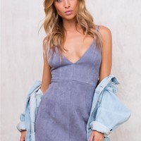 Pale Blue Eyes Mini Dress