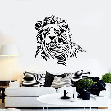 Wall Decal Lion Mane Wild Cat Beast Predator Animal King Vinyl Decal (ed380)