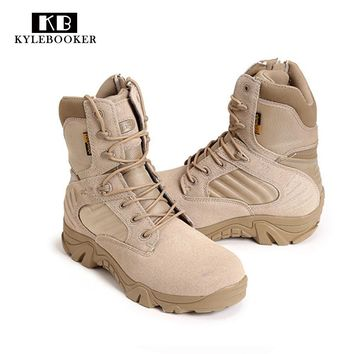 New Army Boots Men's Genuine Leather Snow Boots Shoes Outdoor Tactical Military Boots Men Desert Combat Boots Botas Militares