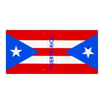 Binder with Flag of Puerto Rico, USA