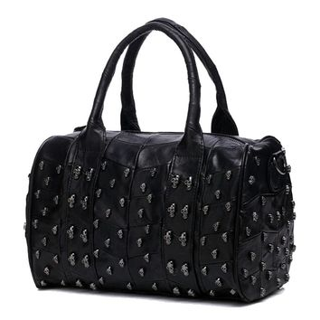 The Skull Studded Weekender Tote