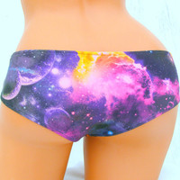 Galaxy Nebula Space bikini  swim bottoms your color choice