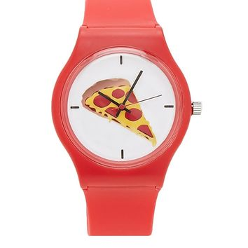 Pizza Graphic Analog Watch