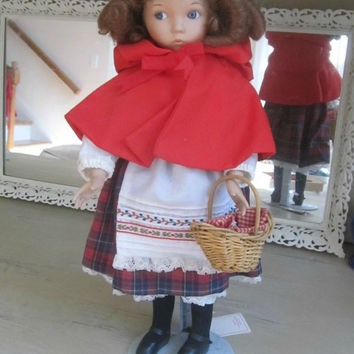 "Little Red Riding Hood Porcelain Doll Knowles Signed Diana Effner 1988 ""Heroines from Fairy Tale Forests of the Brothers Grimm"""