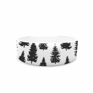 "Marta Olga Klara ""Pine Forest"" Nature Black Pet Bowl"