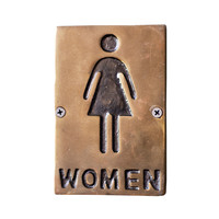 Girls Only Restroom Sign