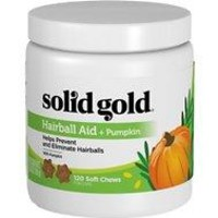 Solid Gold Supplements Hairball Aid + Pumpkin Soft Chews Grain-Free Cat Supplement
