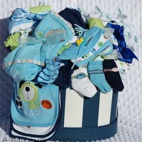 Baby Boy SUPREME Gift Basket, Baby Boy Gift Basket, Baby Boy Shower Gift, Baby Shower