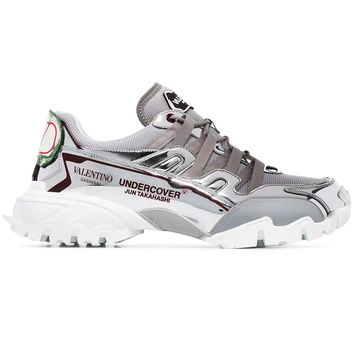 """""""Undercover Jun Takahashi"""" Silver Sneakers by Valentino"""