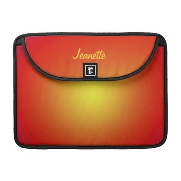 "Macbook Pro 13"" Sleeve Red Orange Yellow"