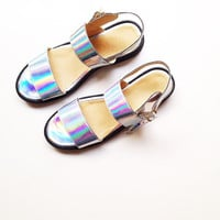 Olympia Faux Leather Sandals (Handmade to Order)