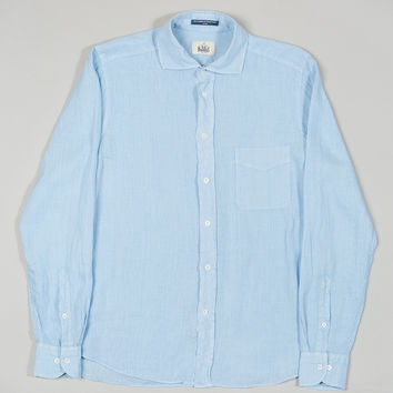 B.D Baggies Dexter Linen Shirt Light Blue