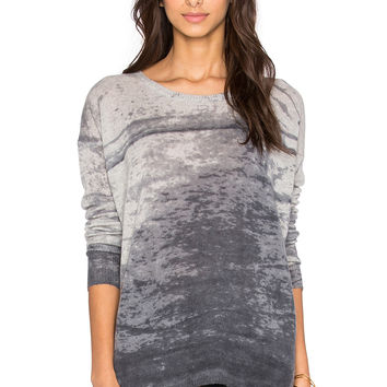 360 Sweater Pearl Crew Neck Sweater in Light Heather Grey