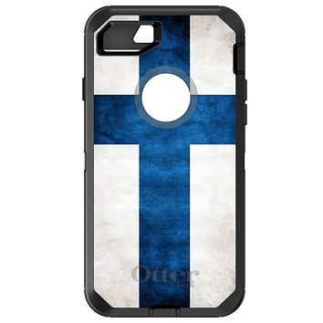 DistinctInk™ OtterBox Defender Series Case for Apple iPhone or Samsung Galaxy - Finland Old Flag