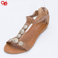 Leisure Women's Sandals With Hollow Flat Low Female Fashion Sandals, SH135