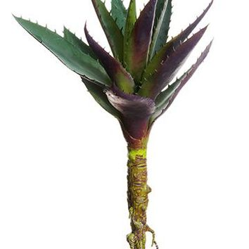 """Purple Agave Faux Succulents Pick - 13"""" Tall"""