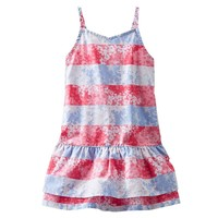 OshKosh B'gosh Poplin Stripe Floral Dress - Toddler Girl, Size:
