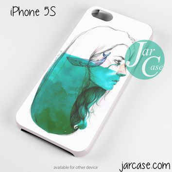 Whale inside mind Phone case for iPhone 4/4s/5/5c/5s/6/6 plus