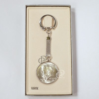 1964 Kennedy Half Dollar Key Ring Boxed Swank