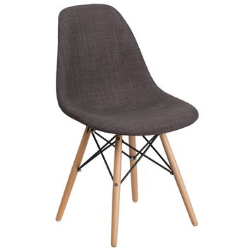 Elon Series Fabric Chair with Wood Base - Turin Patchwork