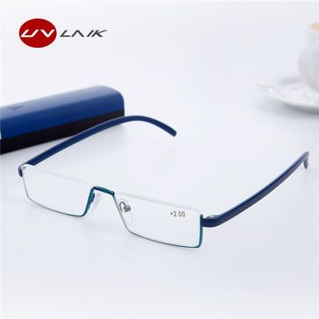9dd1315ae6 UVLAIK TR90 Reading Glasses Women Men Lightweight Frame Resin Lenses  Presbyopic Glasses Reader Prescription Eyeglasses