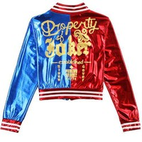 Harley Quinn Property of The Joker Bomber Jacket