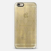 Golden Abstract Crazy Cubes iPhone 6 case by Tracey Coon | Casetify