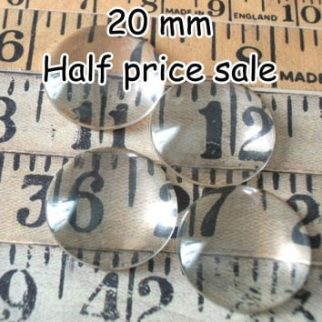 Discount sale 100 pcs 20mm glass tile, slightly irregular, Domed Glass Cabochons,flat back glass,craft glass,magnet supplies,birthday crafts