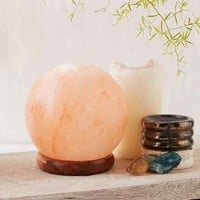 Globe Salt Rock Lamp- Orange One