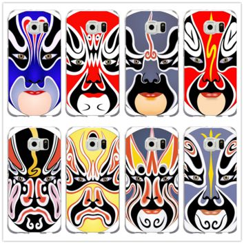 Beijin Opera Face Design Soft Silicone TPU Phone Cases for Samsung Galaxy Note 2 3 4 5 8 S2 S3 S4 S5 Mini S6 S7 S8 S9 Edge Plus