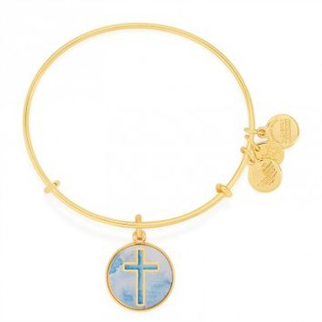 Cross Art Infusion Charm Bangle
