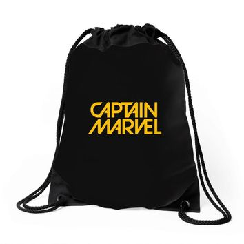 captain marvel 6 Drawstring Bags