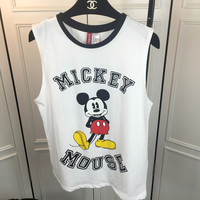Mickey Mouse Print Sleeveless Tank Top