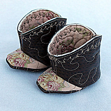 Newborn Baby Cowboy Cowgirl Booties Infant Boots